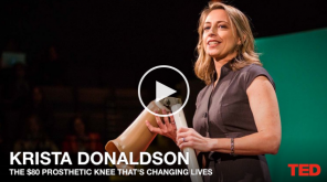 Image of TED Talk Video on prosthetic knee