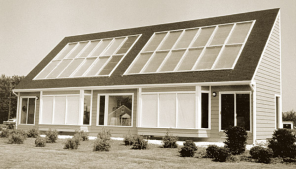 Image of solar panel heating system