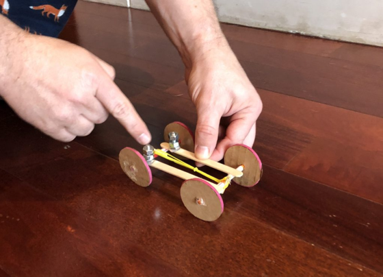 HOW TO: Make a Rubber Band Car